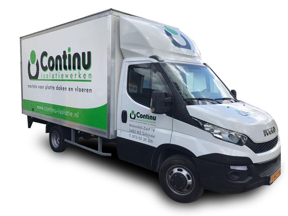 voorbeeld vrachtwagen belettering